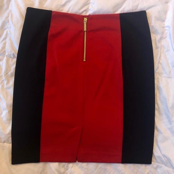 MICHAEL Michael Kors Dresses & Skirts - NWOT Michael Kors Red & Blk knit mini skirt size 8
